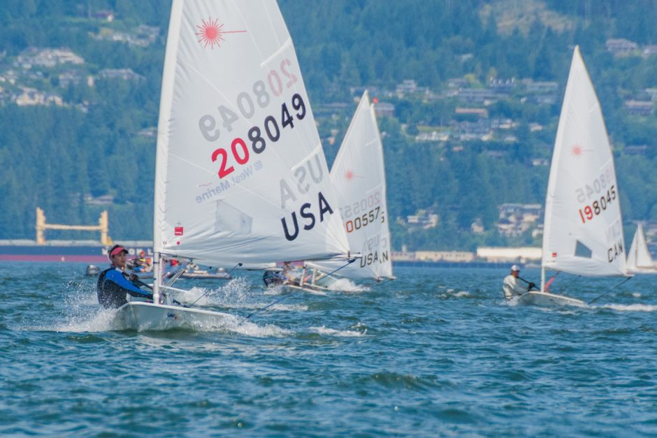 Hanne Weaver Sailing in Competition